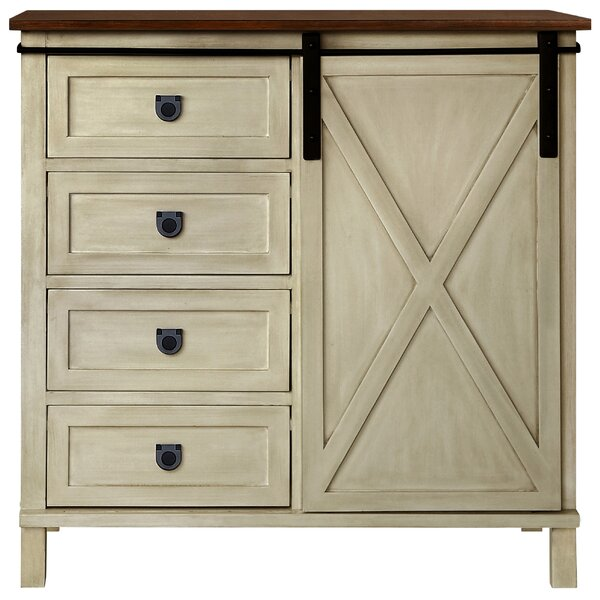 Quade Farmhouse 4 Drawer Accent Cabinet by Gracie Oaks Gracie Oaks