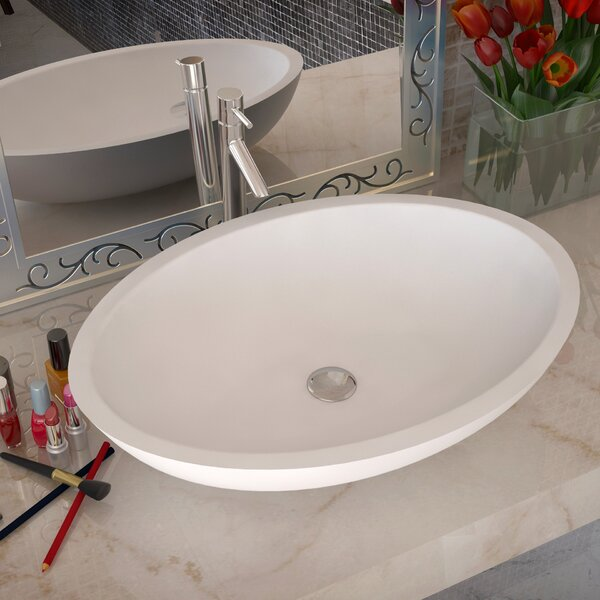 Maine Stone Circular Vessel Bathroom Sink by ANZZI