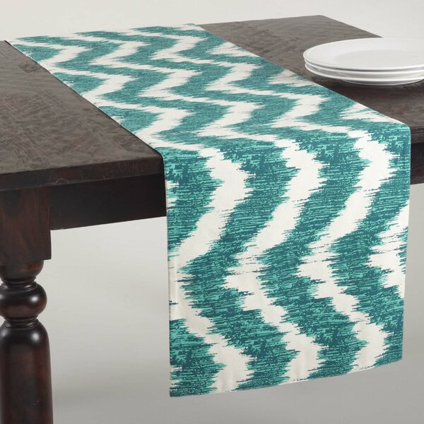 Serpentine Printed Wavy Table Runner by Saro