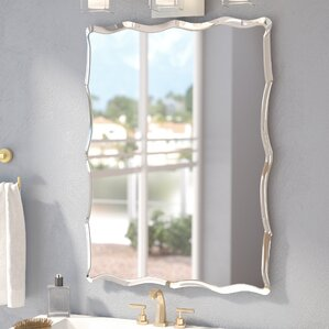redcliffe frameless wall mirror