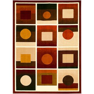 Inexpensive Red/Black Area Rug ByAllStar Rugs