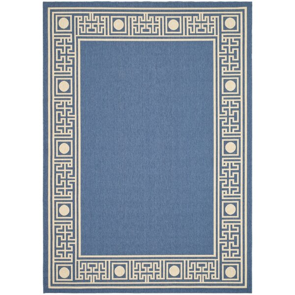 Amaryllis Blue/Beige Outdoor Rug by Bay Isle Home