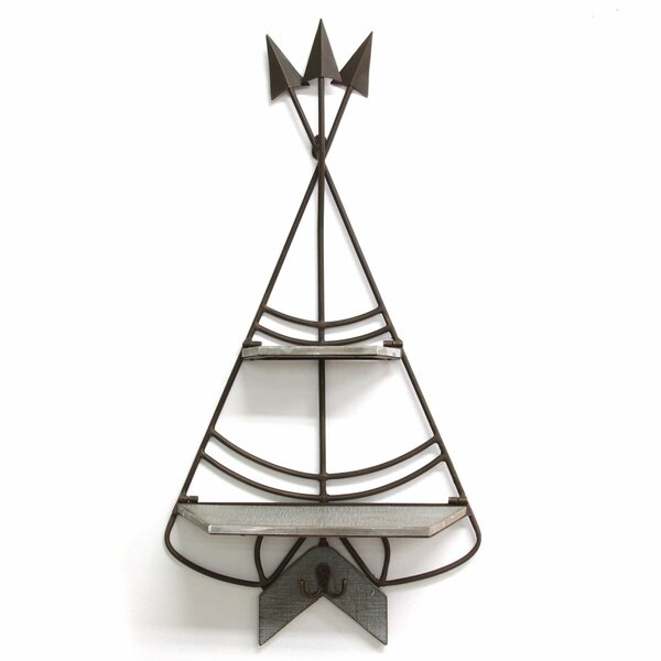 Cedardale Teepee Wall Shelf by Bungalow Rose