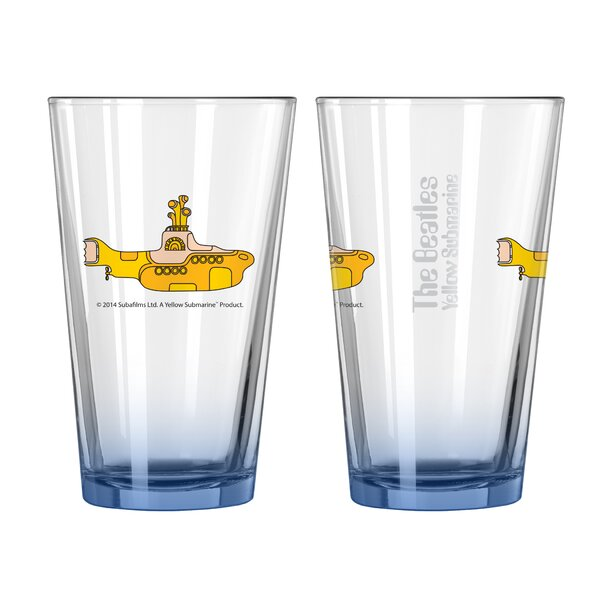 Beatles Yellow Submarine Collectible Elite Glass Pint by Boelter Brands