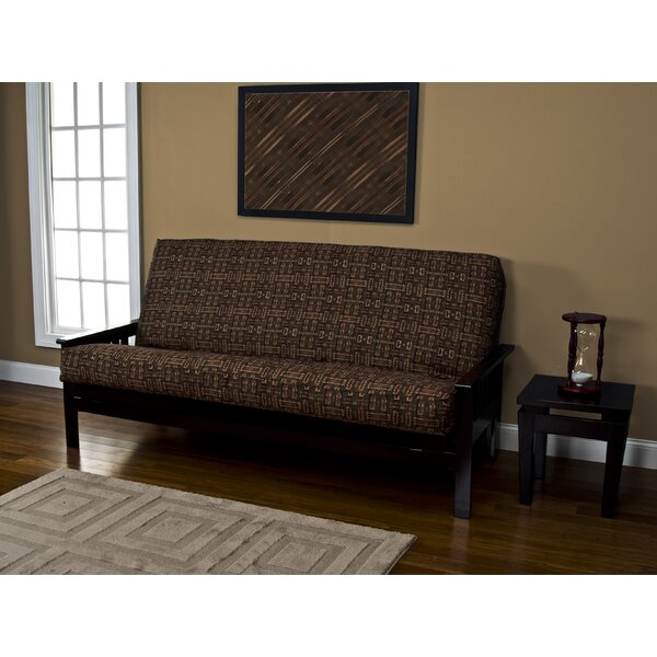 Handcrafted Floral Box Cushion Futon Slipcover By Loon Peak