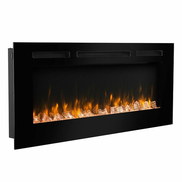 Iserman Recessed Wall Mounted Electric Fireplace Insert by Orren Ellis
