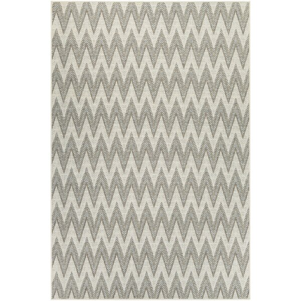Hillside Avenue Ivory/Sand Indoor/Outdoor Area Rug by Wrought Studio