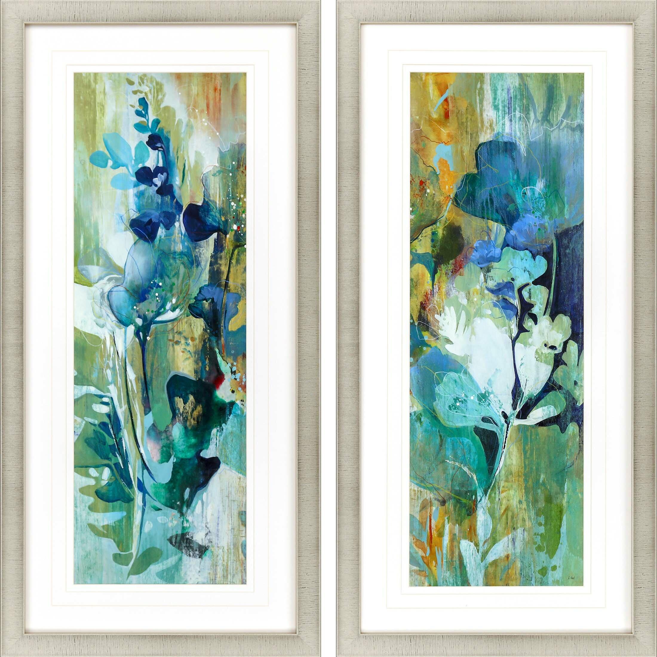 Latitude Run Botanical Illusion 2 Piece Picture Frame Painting Set On Paper Wayfair