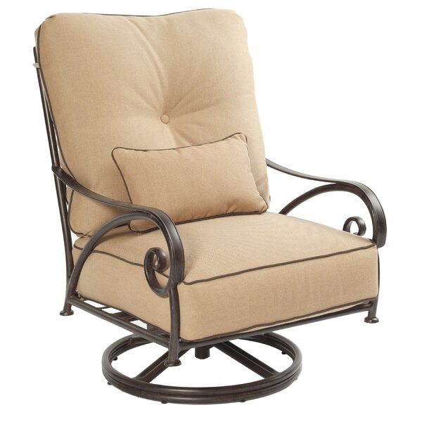 Lucerne High Back Swivel Rocking Chair with Cushion by Leona