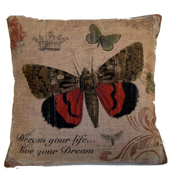 Butterfly Throw Pillow by Elegant Decor