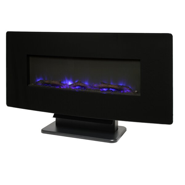 Shallowater Curved Wall Mounted Electric Fireplace By Ebern Designs