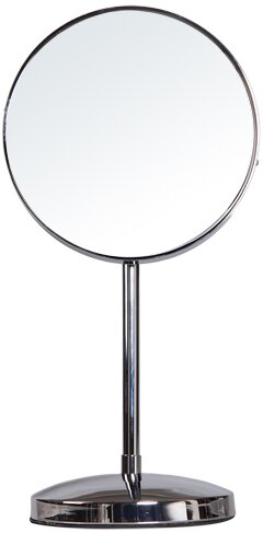 Round Single Sided Makeup Cosmetic Mirror by Adeco Trading