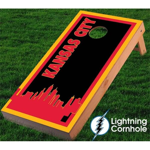 Kansas City Skyline Cornhole Board by Lightning Cornhole