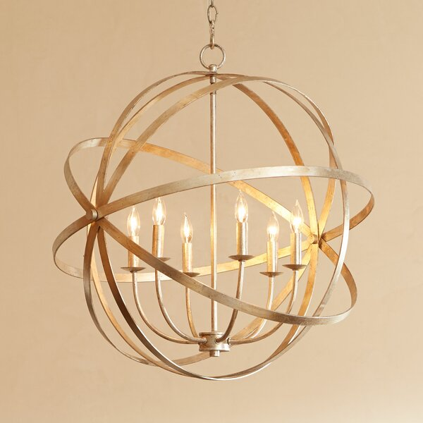 Dian 6-Light Candle Style Globe Chandelier By Willa Arlo Interiors
