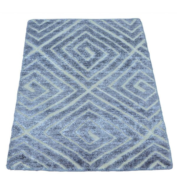 One-of-a-Kind Woodson High and Low Hand-Knotted Silk Area Rug by Orren Ellis