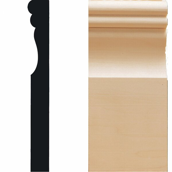 1 in. x 3-1/2 in. x 7-7/8 in. Hardwood Victorian Plinth Moulding by Manor House