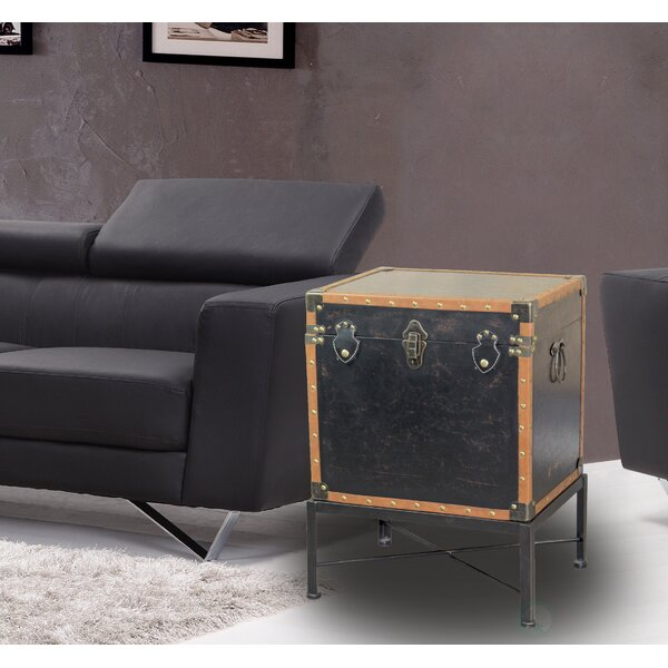Katherin Trimmed Trunk End Table by Williston Forge