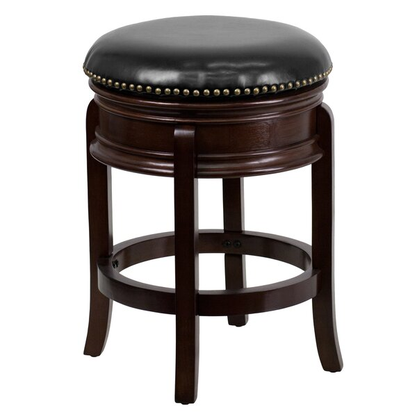 Henninger 24 Swivel Bar Stool by Three Posts