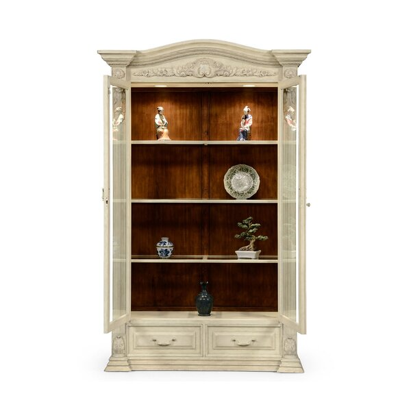 French Provincial Glazed Lighted Curio Cabinet by Jonathan Charles Fine Furniture