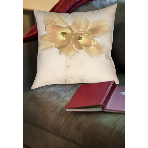 Lovely Tulip Printed Throw Pillow by Manual Woodworkers & Weavers
