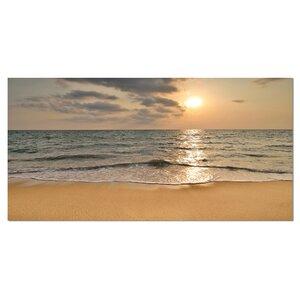 Dark Tropical Sand Beach at Sunset Photographic Pr