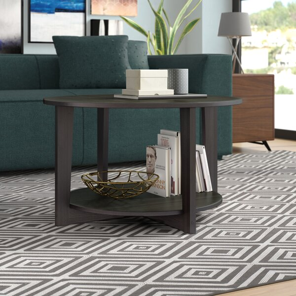 Ludlum Cross Legs Coffee Table With Storage By Wrought Studio