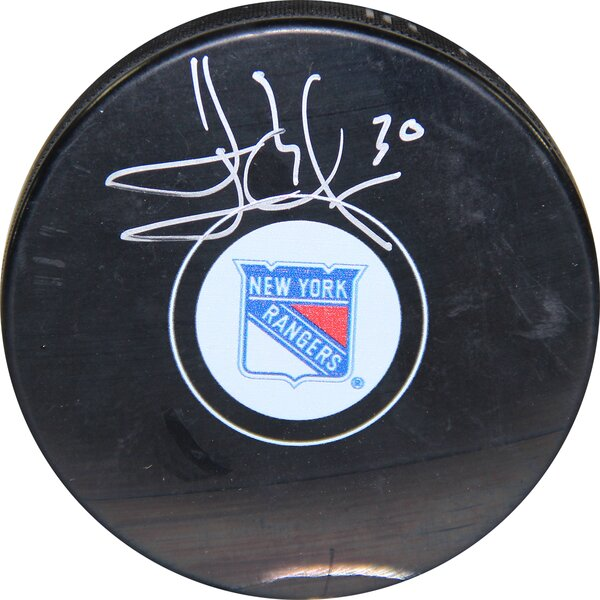 Henrik Lundqvist Signed Puck by Steiner Sports