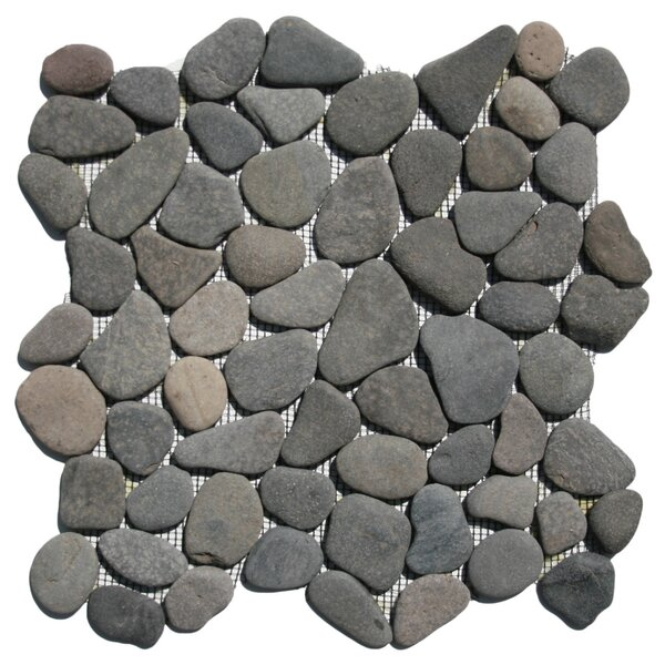 Banten Random Sized Natural Stone Mosaic Tile in Island Gray by CNK Tile