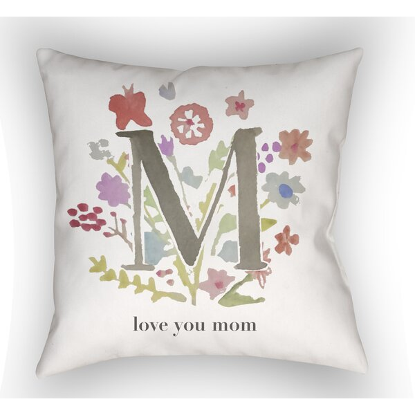 Bruch Love You Mom Indoor/Outdoor Throw Pillow by