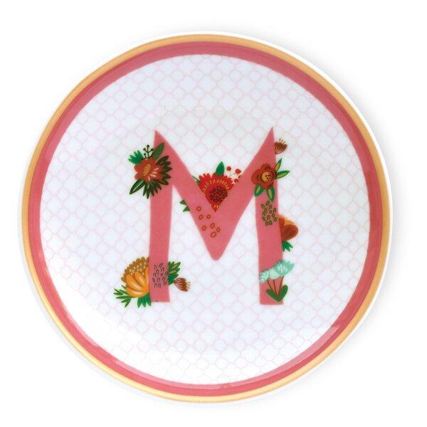 Floral Monogram Dish (Set of 4) by Boston International