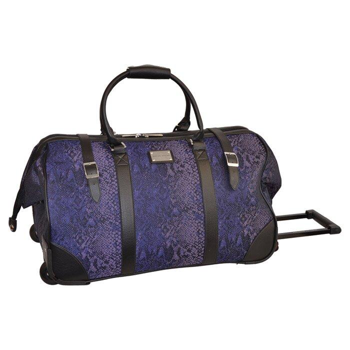1d69cc33e413 Adrienne Vittadini Python Rolling Duffel Bag in Purple