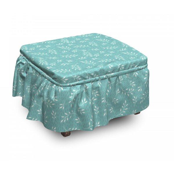 Shoping Box Cushion Ottoman Slipcover