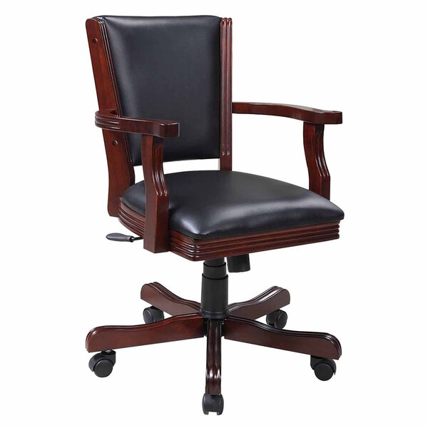 Kingston Poker Synthetic Leather Upholstered Dining Chair (Set of 4) by Hathaway Games