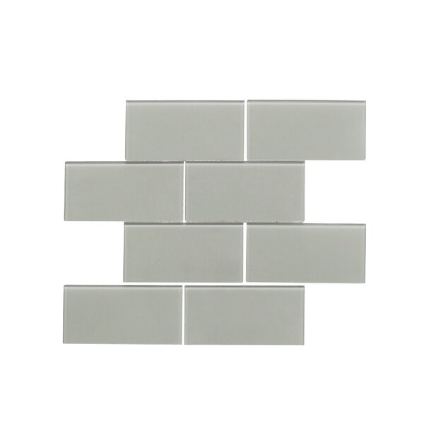 Quality Value Series 3 x 6 Glass Subway Tile in Glossy Dark Gray by WS Tiles