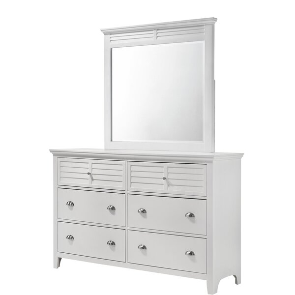Johnson 6 Drawer Double Dresser with Mirror by Canora Grey
