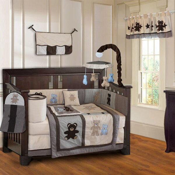 Teddy Bear Baby 10 Piece Crib Bedding Set by Babyfad