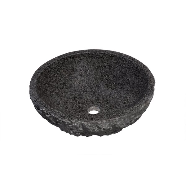 Absolute Stone Circular Vessel Bathroom Sink by Novatto