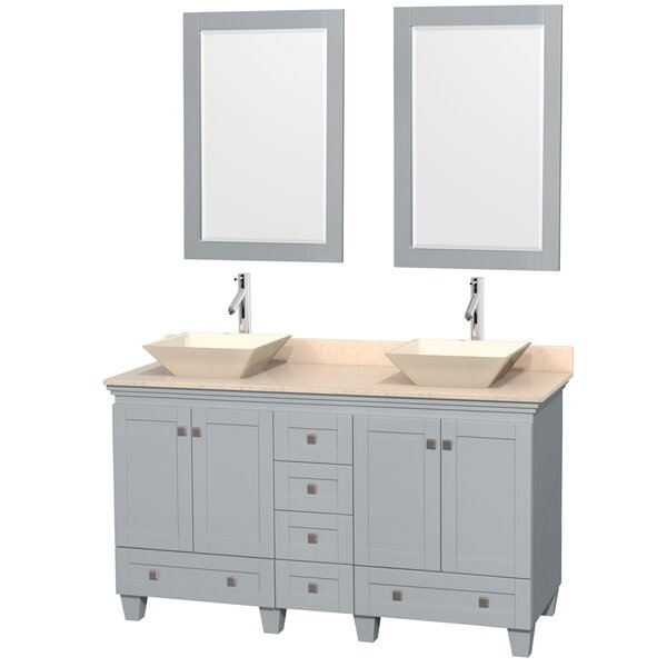 Acclaim 60 Double Bathroom Vanity Set with Mirror