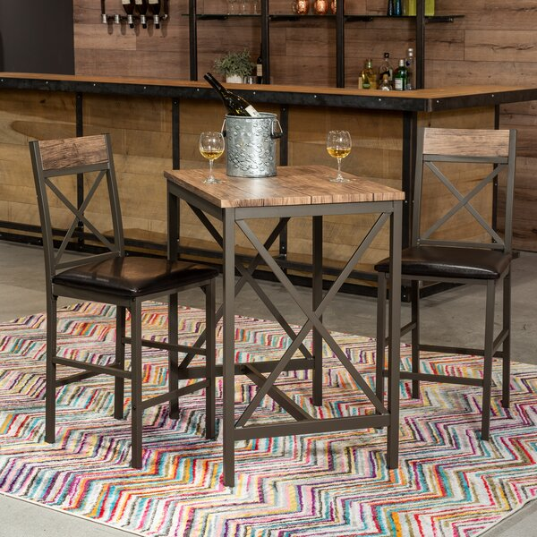 Losada 3 Piece Pub Table Set by Millwood Pines