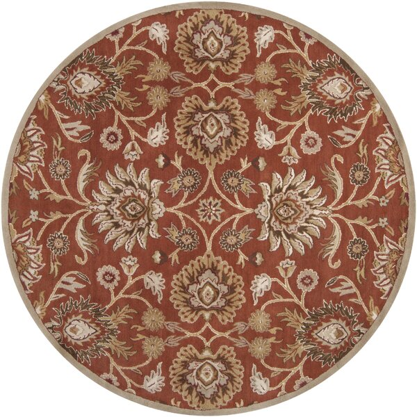 Ferrer Hand-Tufted Rust Area Rug by Darby Home Co