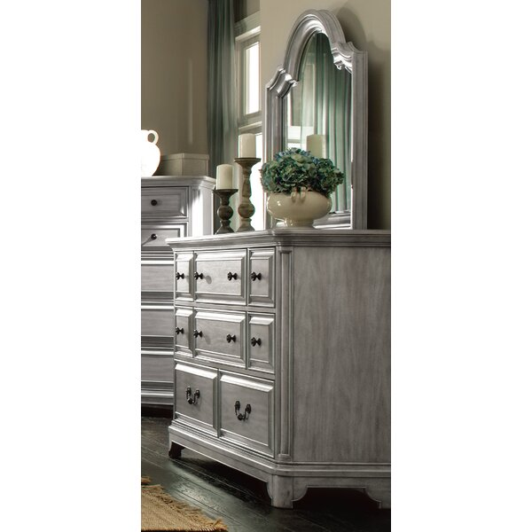 Chelmscote 8 Drawer Double Dresser with Mirror by Darby Home Co