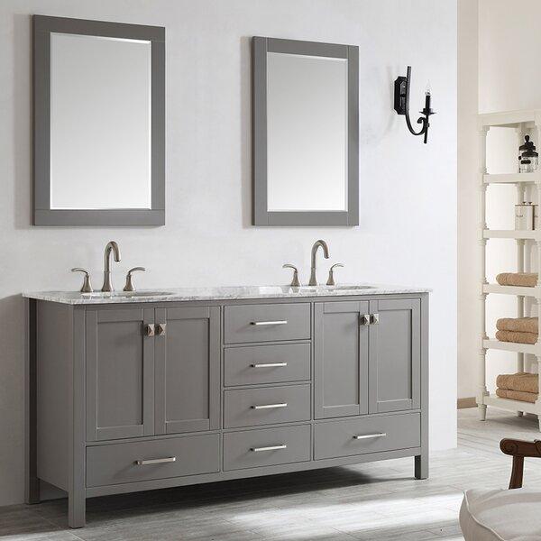 Newtown 72 Double Bathroom Vanity Set with Mirror