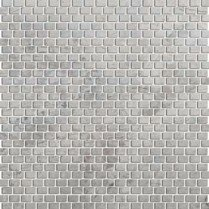 Marble 12 x 12 Mini Offset Mosaic Tile in Silver by Emser Tile