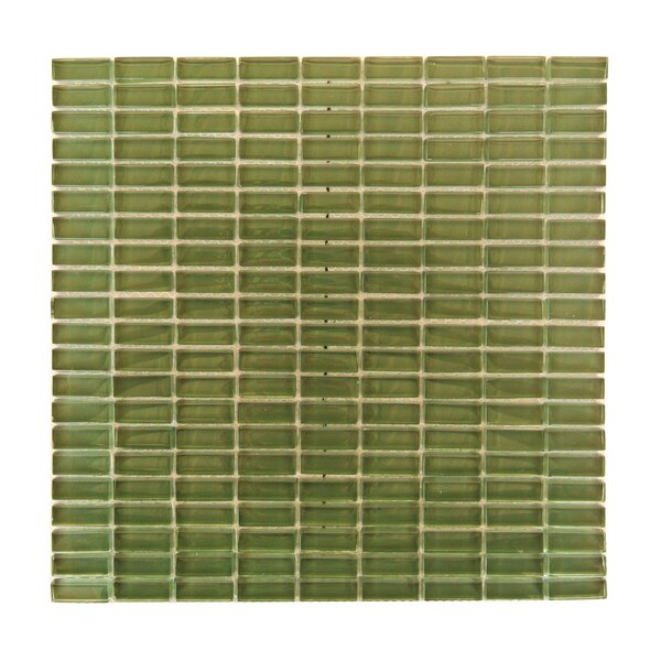 Epiphany 0.5 x 1.25 Glass Mosaic Tile in Glazed Green by Abolos