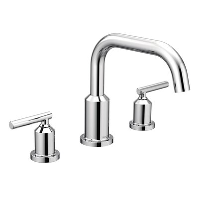 Tub Faucet Deck Mount Double Handle Chrome 756 Product Image