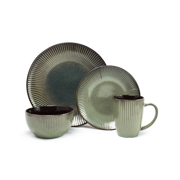 Karlee 16 Piece Dinnerware Set, Service for 4 (Set of 16) by Bungalow Rose