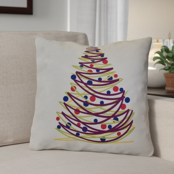 Christmas Tree Outdoor Throw Pillow by The Holiday Aisle