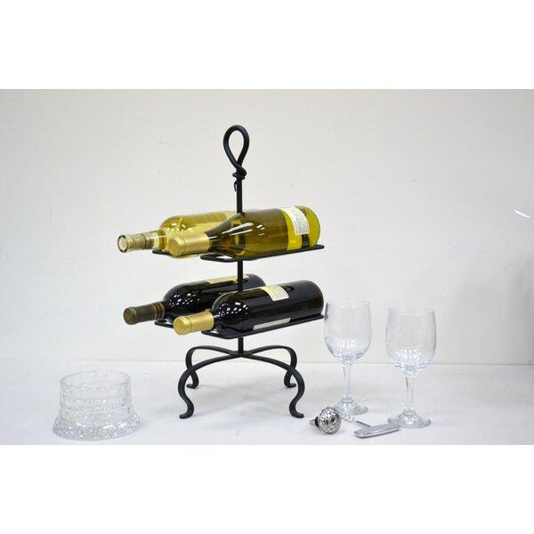 4 Bottle Tabletop Wine Bottle Rack by J & J Wire J & J Wire
