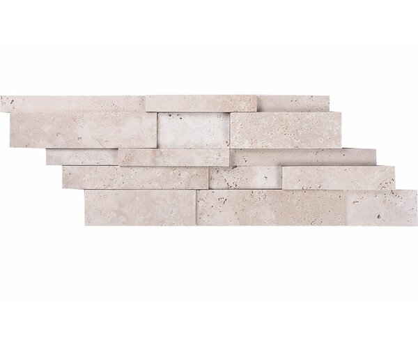 Ledger Random Sized Stone Mosaic Tile in Ivory by Parvatile