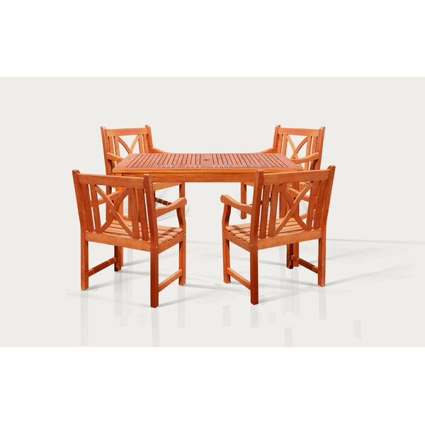 Stephenie 5 Piece Dining Set by Longshore Tides